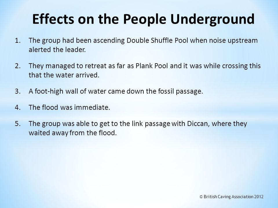 Effects on the People Underground