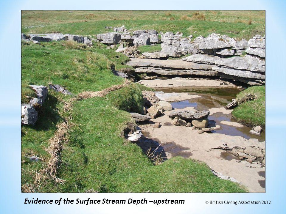 Evidence of the Surface Stream Depth –upstream