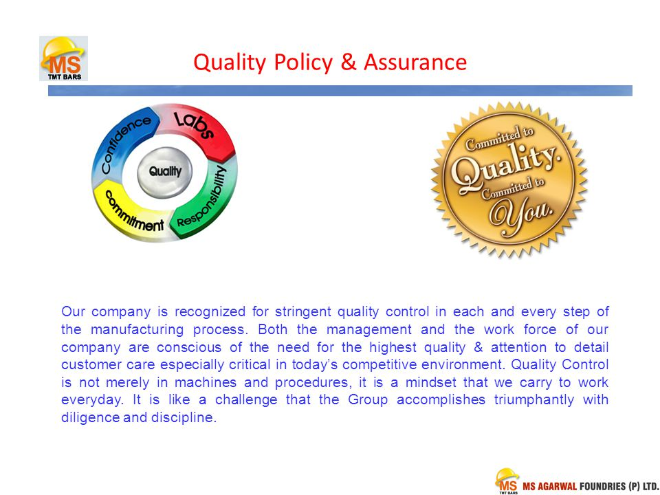 Quality Policy & Assurance