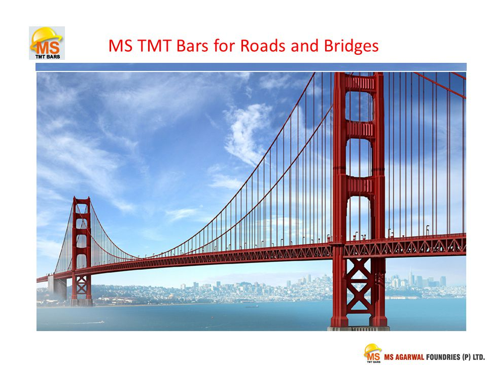MS TMT Bars for Roads and Bridges