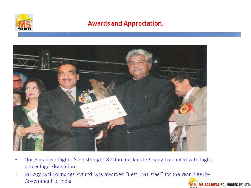 Awards and Appreciation.