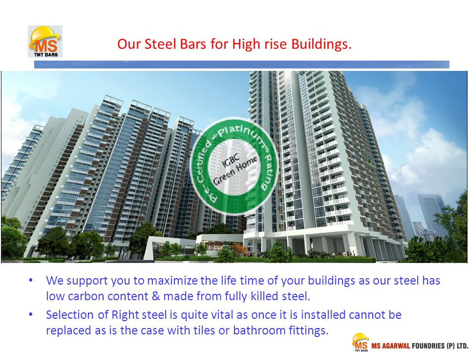 Our Steel Bars for High rise Buildings.