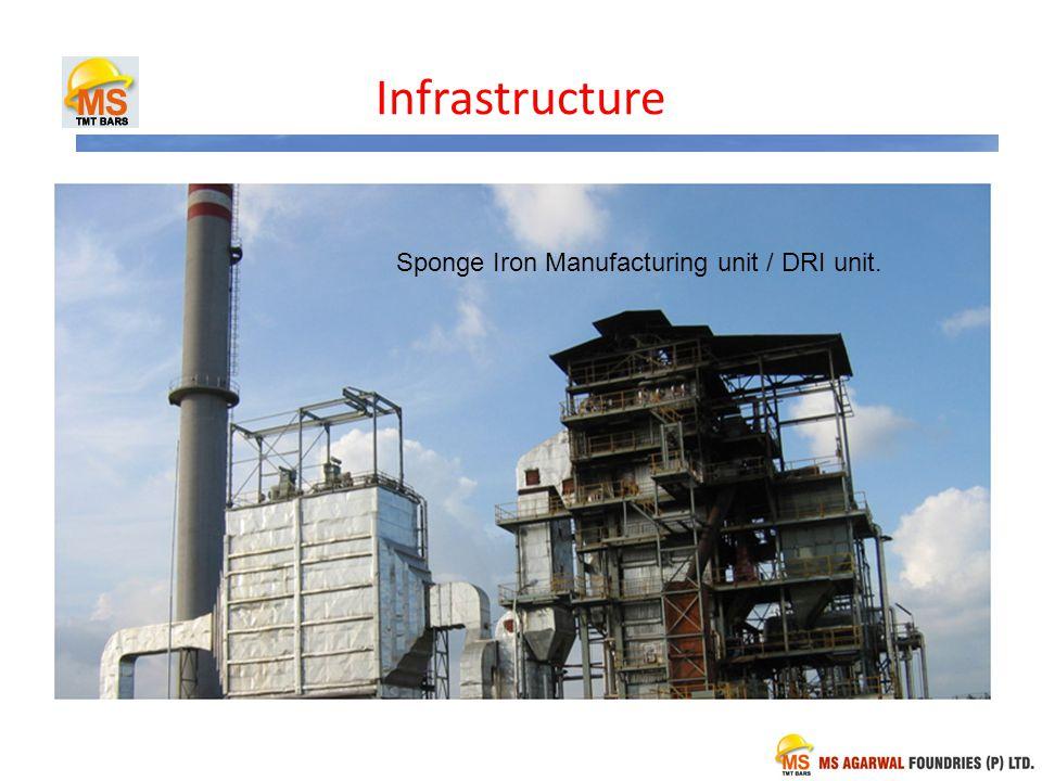 Infrastructure Sponge Iron Manufacturing unit / DRI unit.