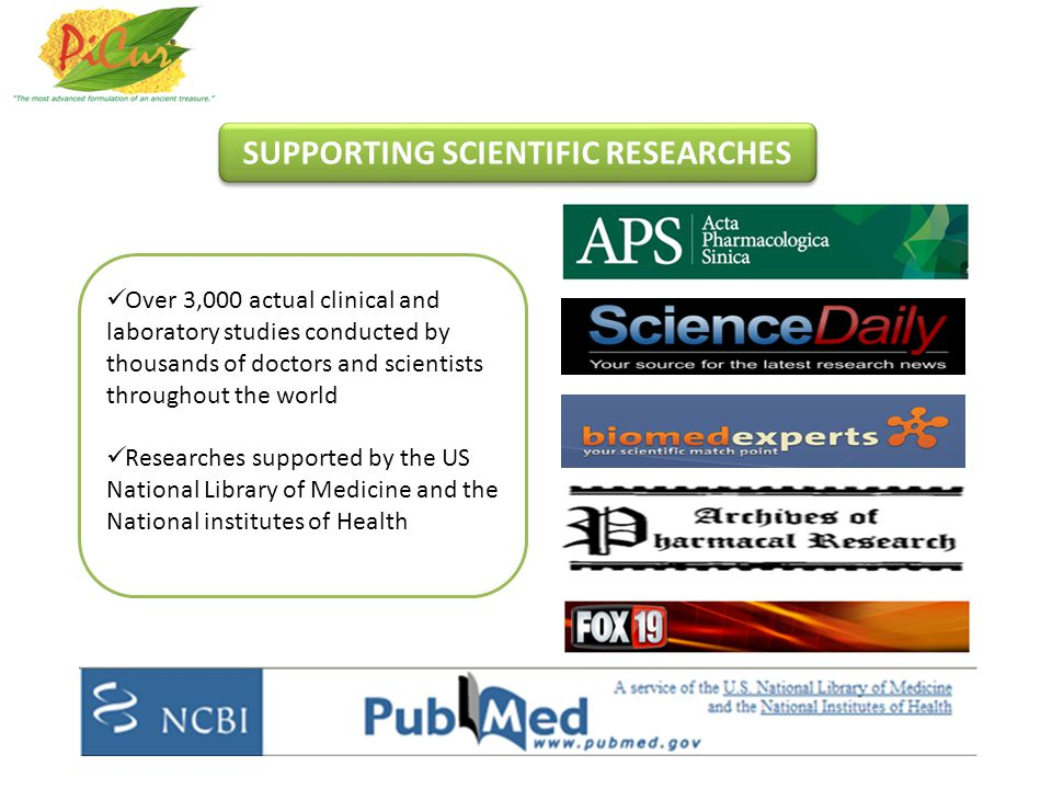 SUPPORTING SCIENTIFIC RESEARCHES