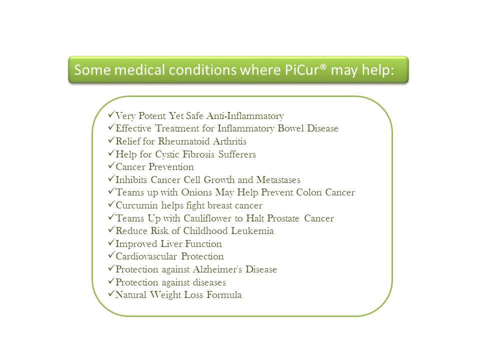 Some medical conditions where PiCur® may help: