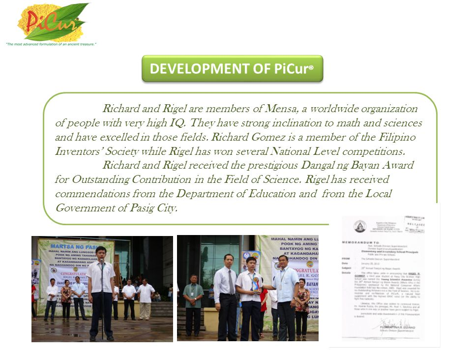 DEVELOPMENT OF PiCur®