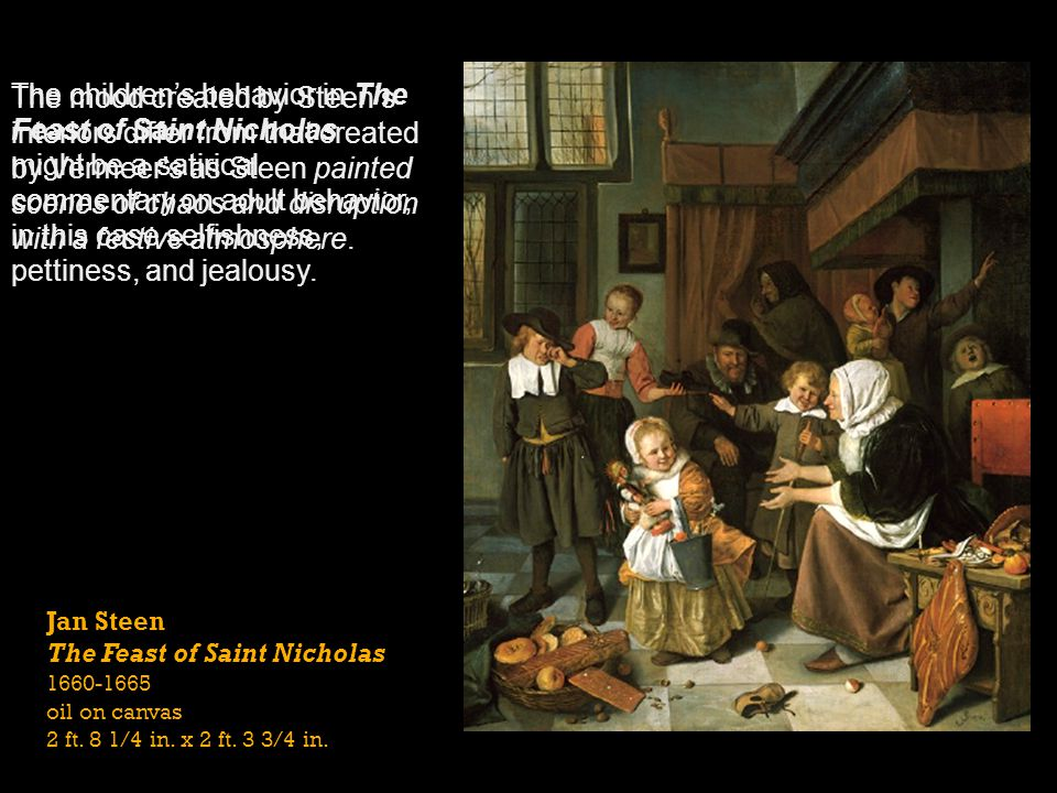 The children's behavior in The Feast of Saint Nicholas
