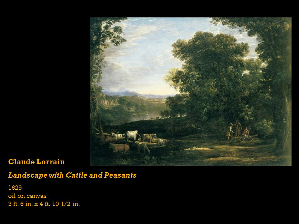 Landscape with Cattle and Peasants