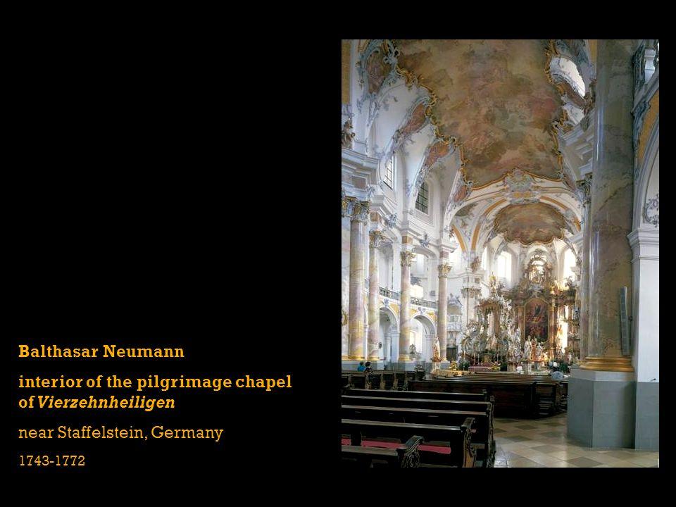 interior of the pilgrimage chapel of Vierzehnheiligen