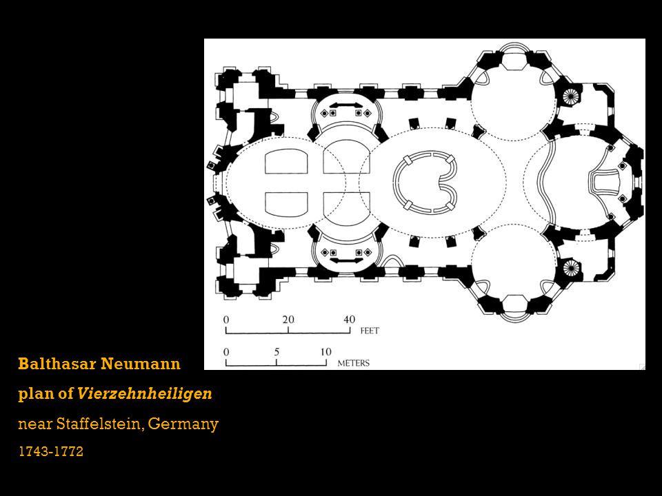 plan of Vierzehnheiligen near Staffelstein, Germany