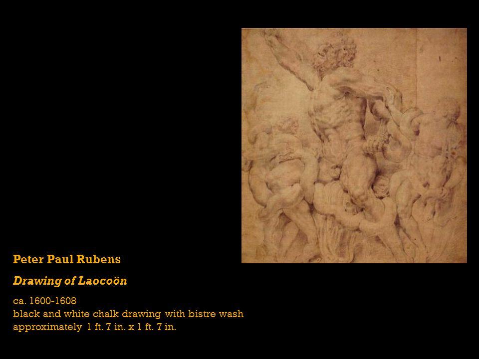 Peter Paul Rubens Drawing of Laocoön