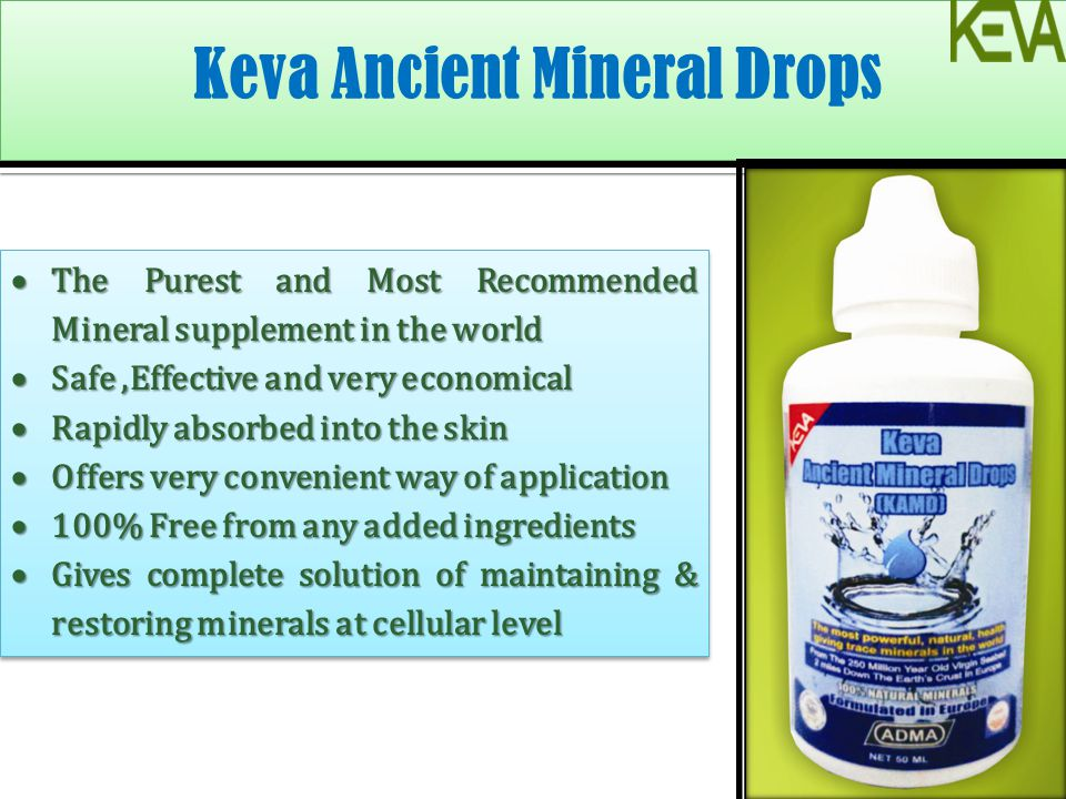 Keva Ancient Mineral Drops