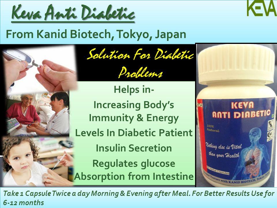 Keva Anti Diabetic From Kanid Biotech, Tokyo, Japan