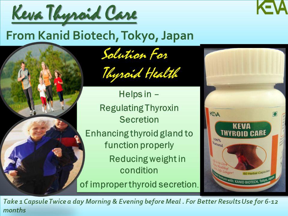 Keva Thyroid Care From Kanid Biotech, Tokyo, Japan