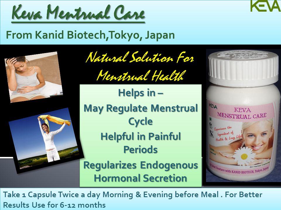 Keva Mentrual Care From Kanid Biotech,Tokyo, Japan