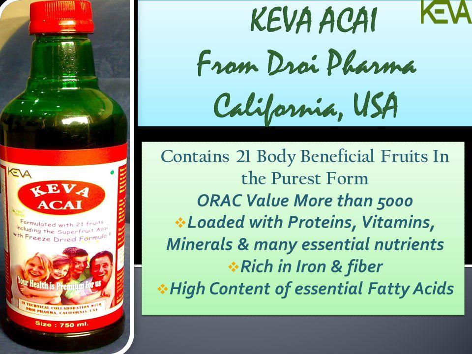 KEVA ACAI From Droi Pharma California, USA