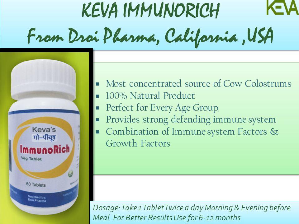 KEVA IMMUNORICH From Droi Pharma, California ,USA
