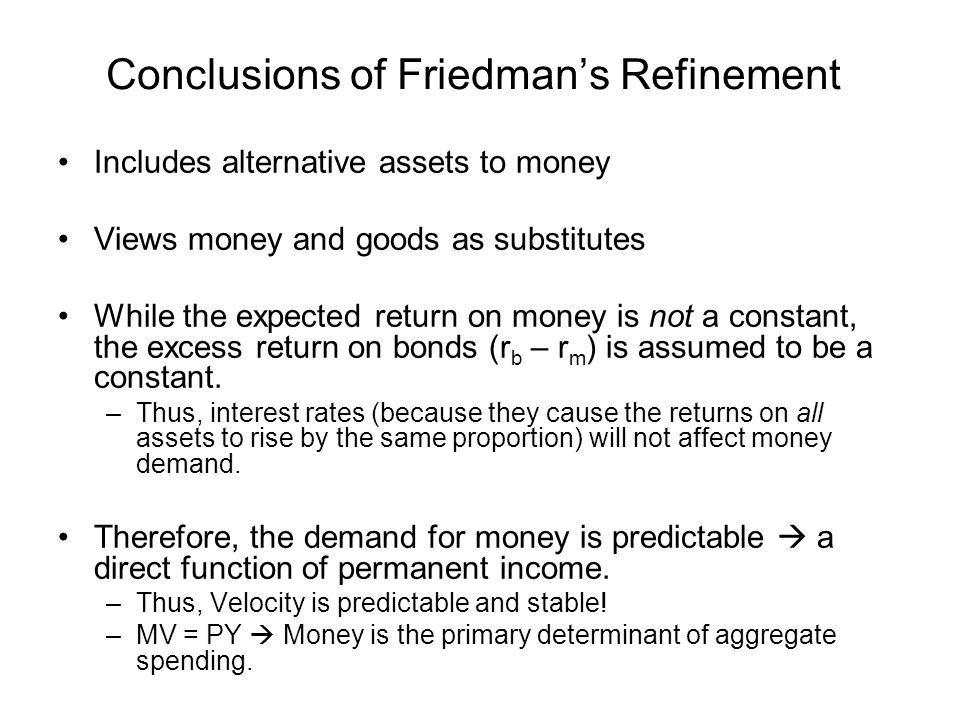 Conclusions of Friedman's Refinement