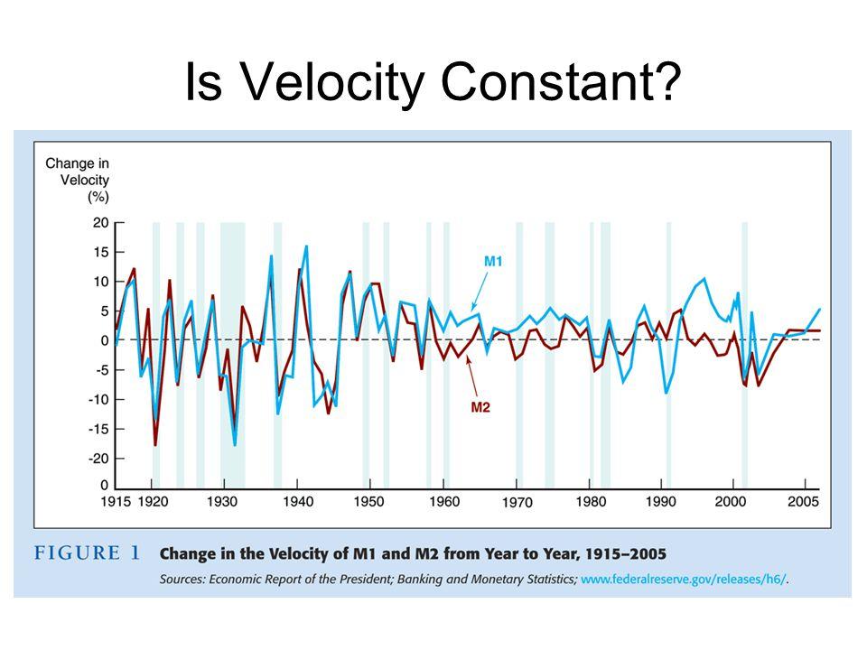 Is Velocity Constant