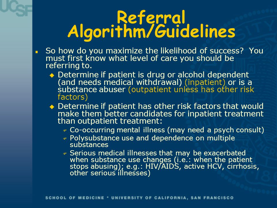 Referral Algorithm/Guidelines