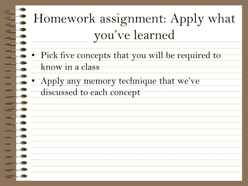 Homework assignment: Apply what you've learned