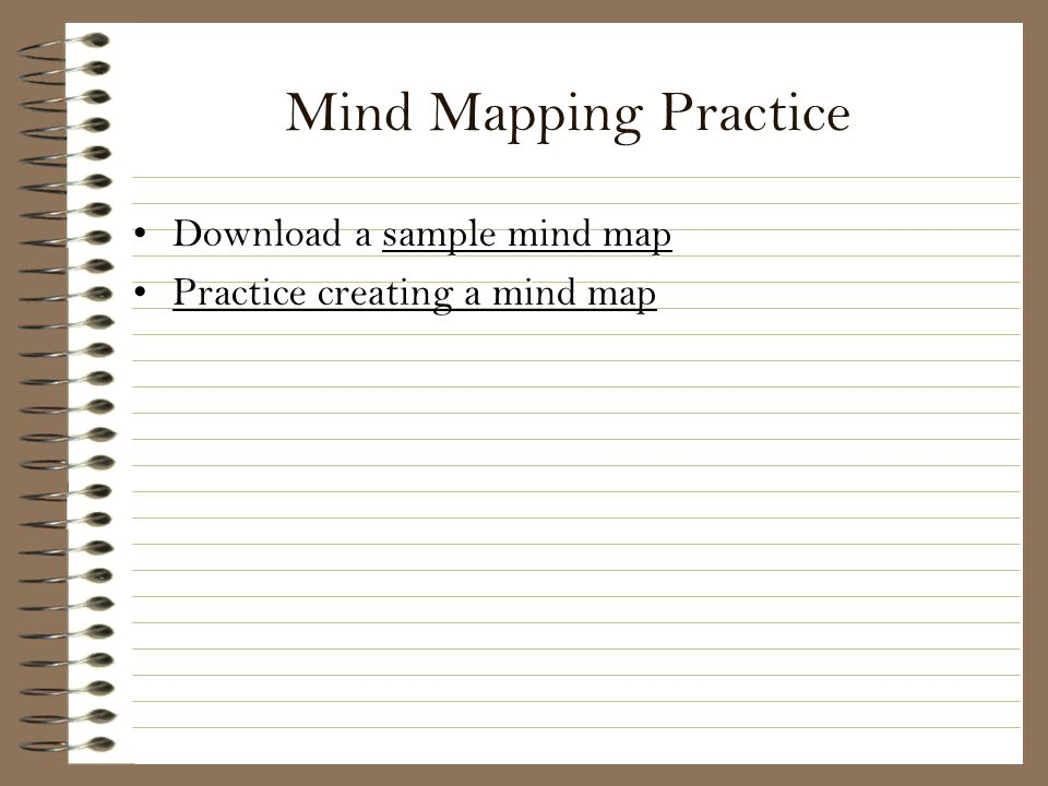 Mind Mapping Practice Download a sample mind map
