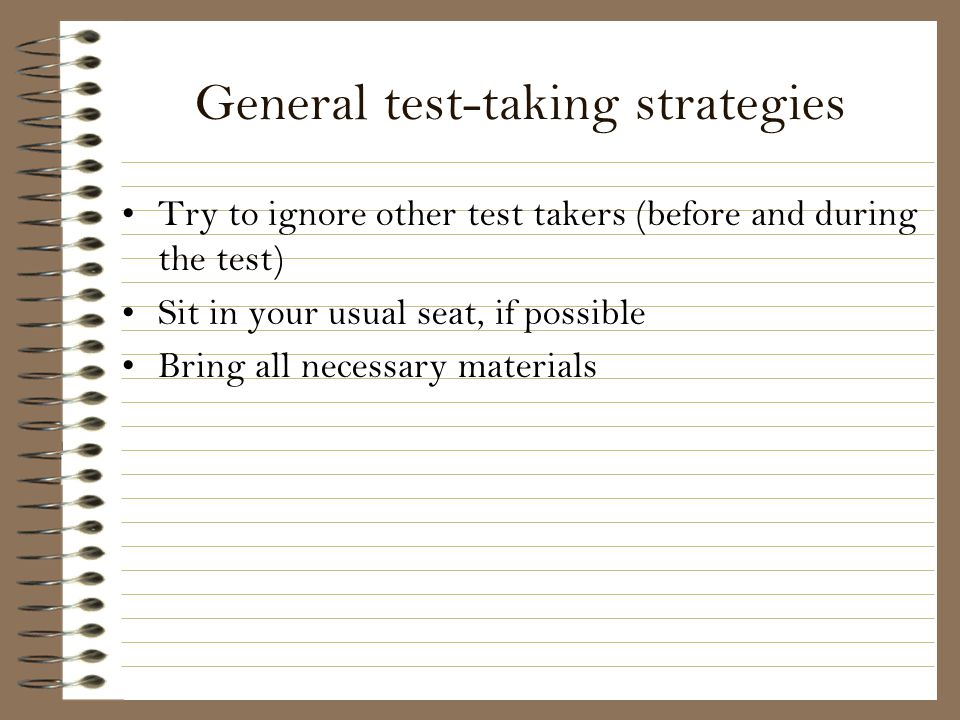 General test-taking strategies