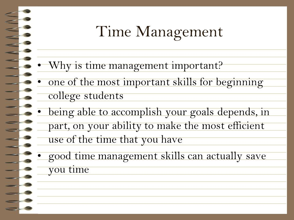 why being on time is important Time management refers to managing time effectively so that the right time is allocated to the right activity time management plays a very important role being.
