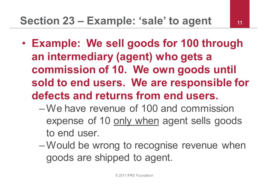Section 23 – Example: 'sale' to agent