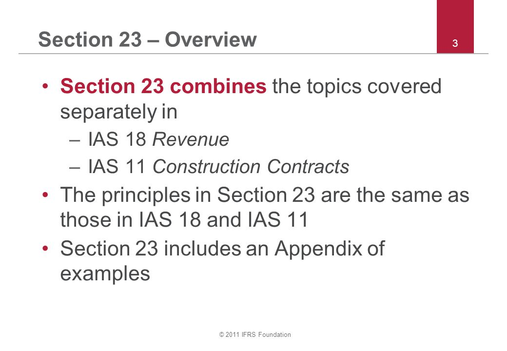 Section 23 combines the topics covered separately in