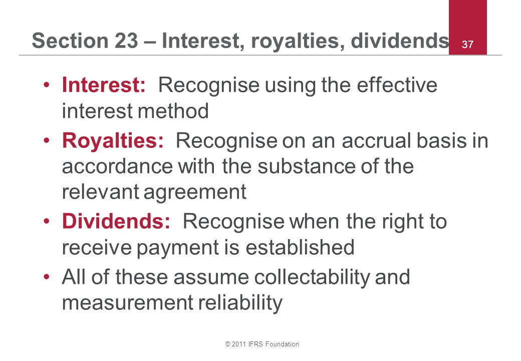 Section 23 – Interest, royalties, dividends