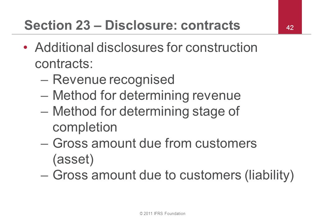 Section 23 – Disclosure: contracts