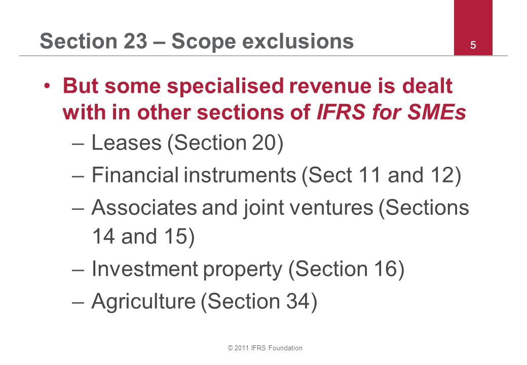Section 23 – Scope exclusions