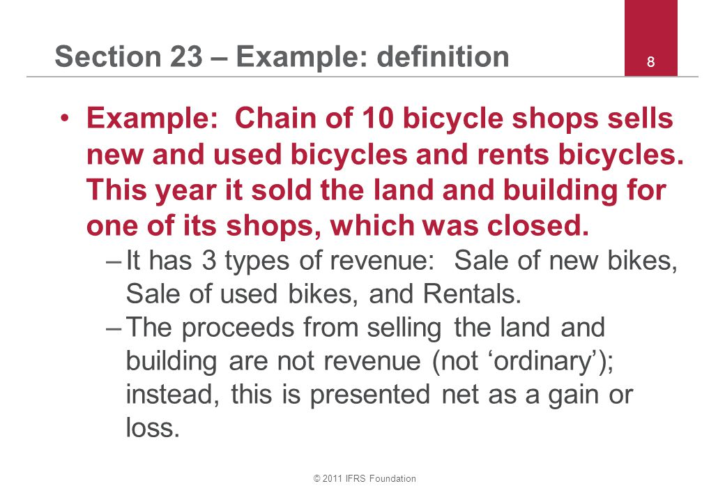 Section 23 – Example: definition