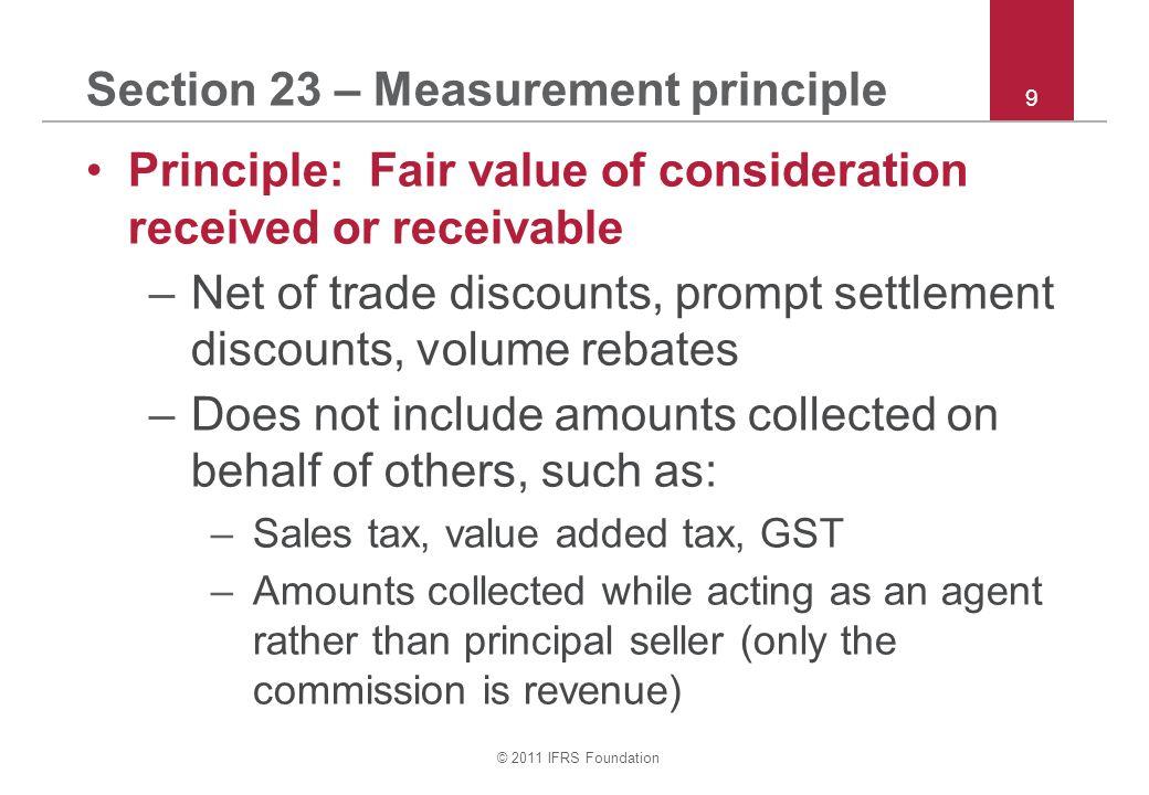 Section 23 – Measurement principle