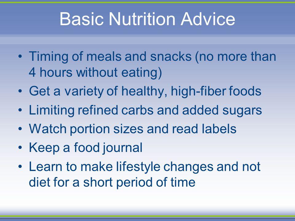 Basic Nutrition Advice