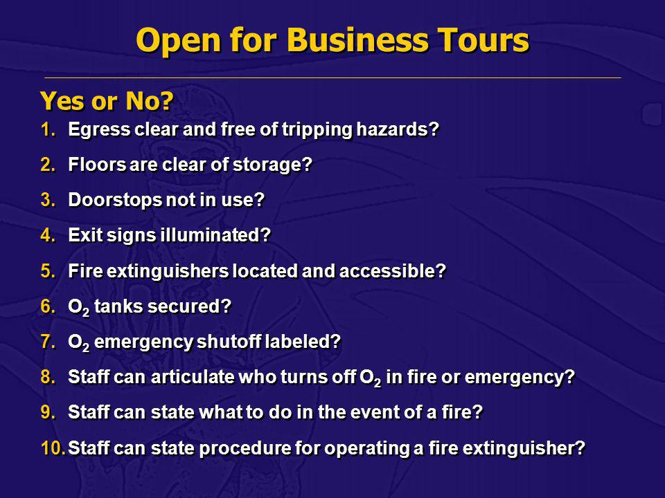 Open for Business Tours