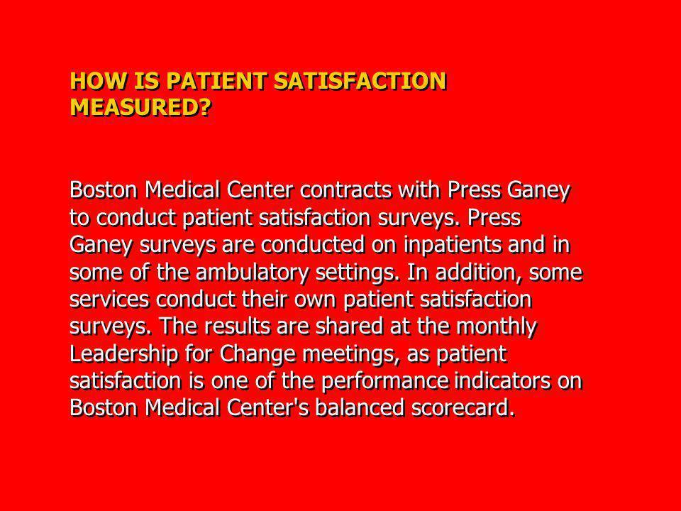 HOW IS PATIENT SATISFACTION MEASURED