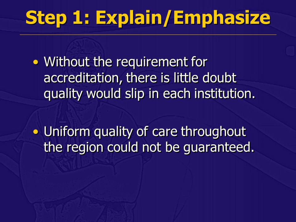 Step 1: Explain/Emphasize