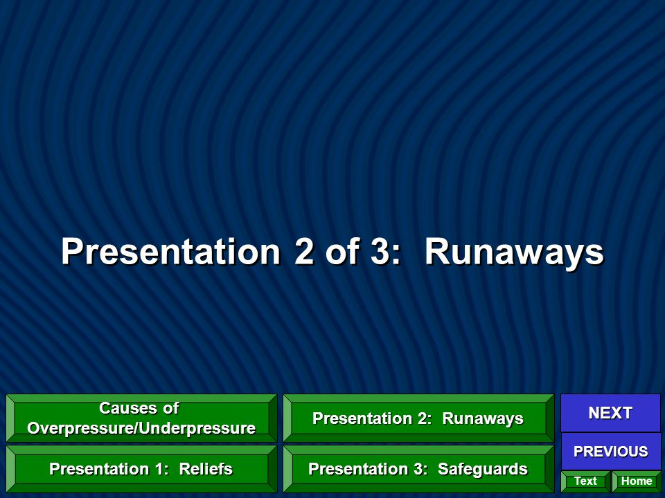 Presentation 2 of 3: Runaways