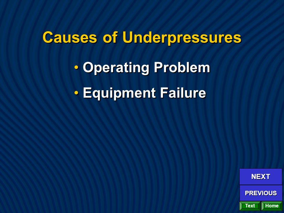 Causes of Underpressures