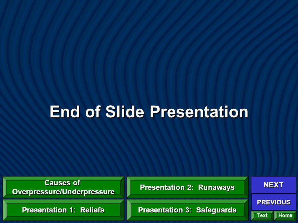 End of Slide Presentation