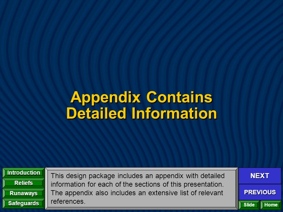 Appendix Contains Detailed Information