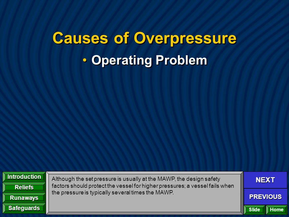 Causes of Overpressure