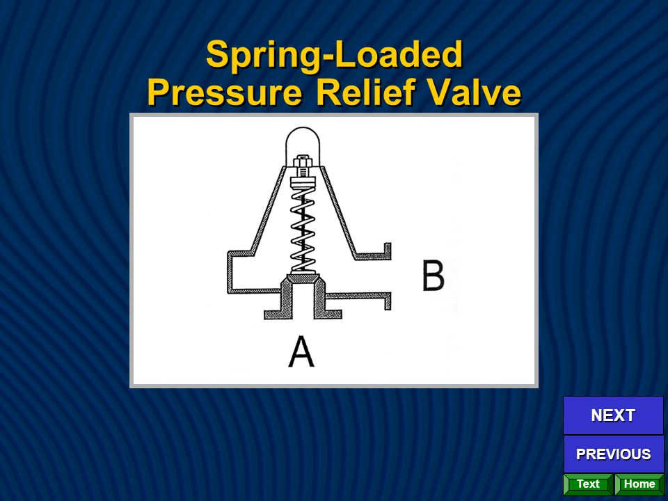Spring-Loaded Pressure Relief Valve