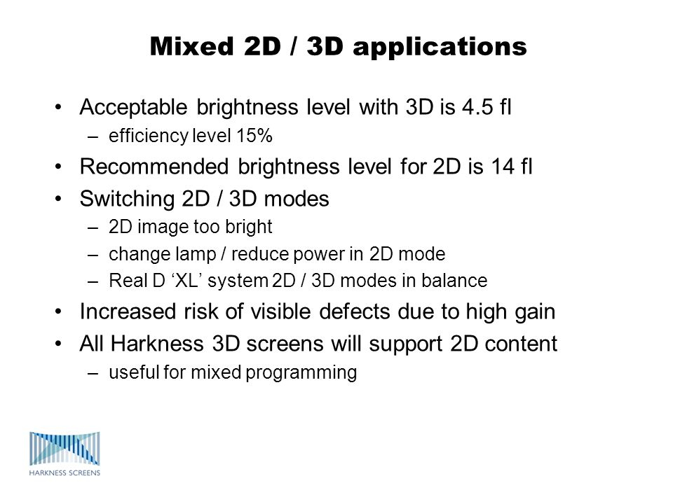 Mixed 2D / 3D applications