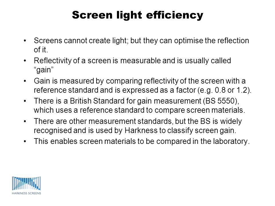 Screen light efficiency