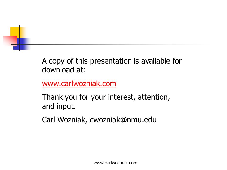 A copy of this presentation is available for download at: