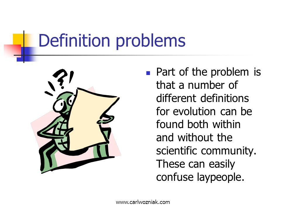 Definition problems