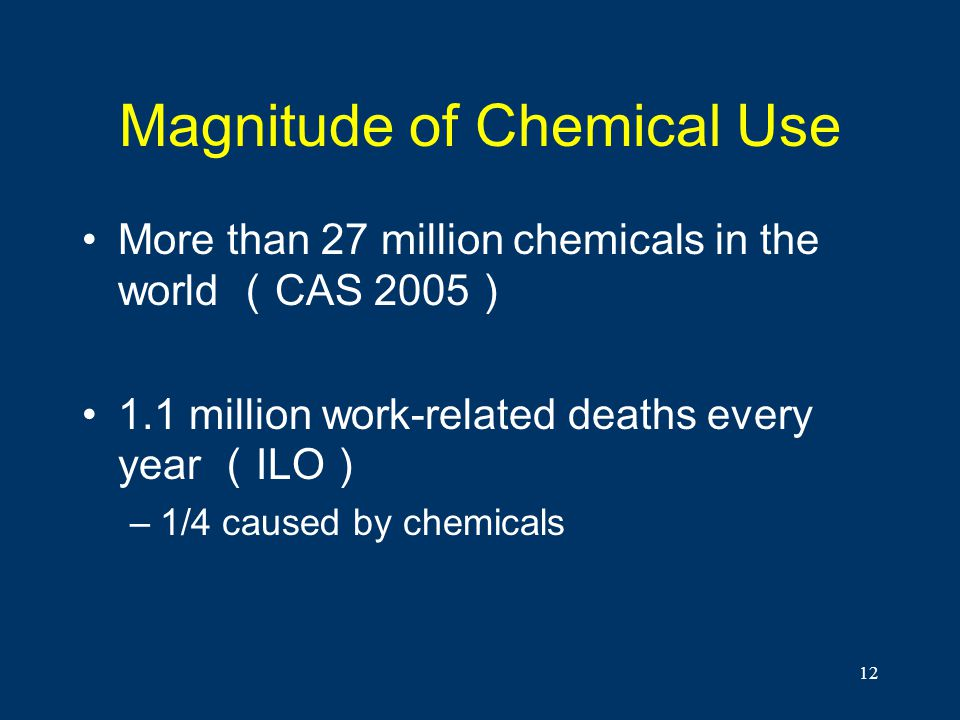 Magnitude of Chemical Use